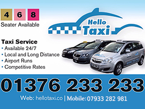 Braintree cab - cleanest cab company, which not only means you'll enjoy a comfortable ride in a clean vehicle